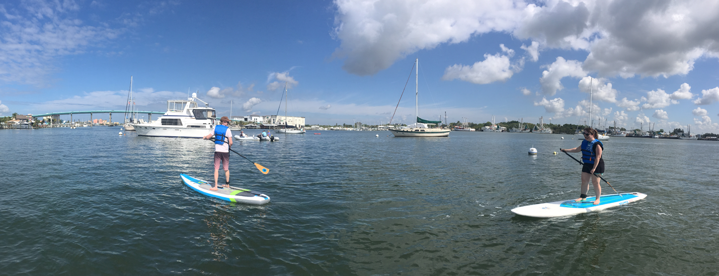 paddle boarding the harbor - image