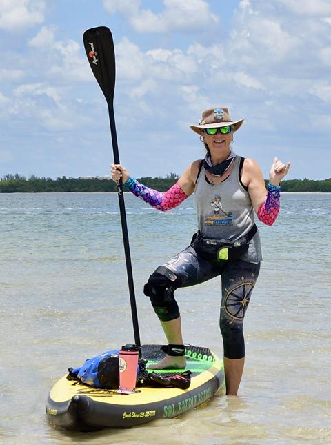 coach sheree paddle boarding - image